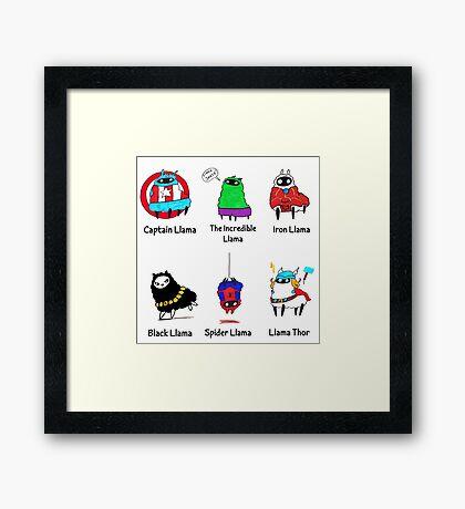 The LlamAvengers Framed Print