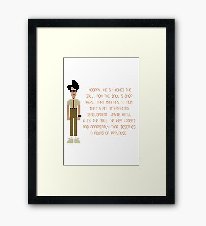 The IT Crowd – Moss at the Football Framed Print