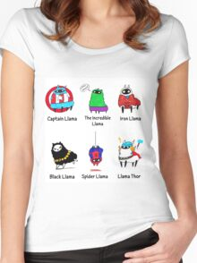 The LlamAvengers Women's Fitted Scoop T-Shirt