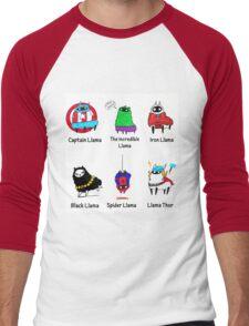 The LlamAvengers Men's Baseball ¾ T-Shirt
