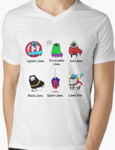 The LlamAvengers Mens V-Neck T-Shirt