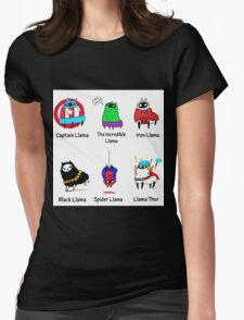 The LlamAvengers Womens Fitted T-Shirt