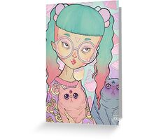 Cat Lady Greeting Card