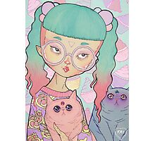 Cat Lady Photographic Print