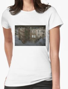 Raindrops, Ripples and Fabulous Reflections of Amsterdam Canal Houses Womens Fitted T-Shirt