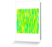 WAVY-1 (Greens, Yellow & Light Blues)-(9000 x 9000 px) Greeting Card