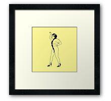 Janelle Monae (Yoga) Framed Print