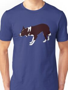 Crouching Border Collie - Red & White Unisex T-Shirt
