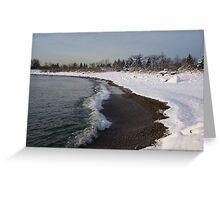Winter Beach - Lake Ontario, Toronto, Canada Greeting Card