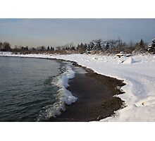 Winter Beach - Lake Ontario, Toronto, Canada Photographic Print