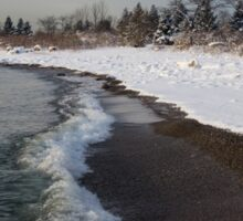 Winter Beach - Lake Ontario, Toronto, Canada Sticker