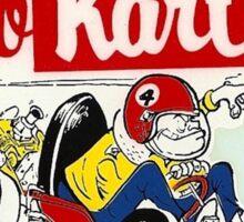 Go Kart Vintage Sticker