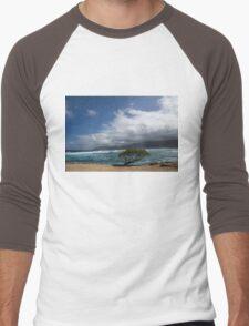 Wild Coast - Laie Point, North Shore, Oahu, Hawaii Men's Baseball ¾ T-Shirt