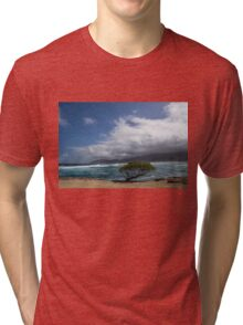 Wild Coast - Laie Point, North Shore, Oahu, Hawaii Tri-blend T-Shirt