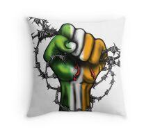 Irish Fist Sticker/ Tee Throw Pillow