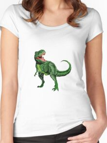 Tyrannosaurus Dinosaur Women's Fitted Scoop T-Shirt
