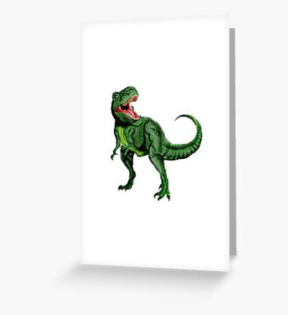 Tyrannosaurus Dinosaur Greeting Card