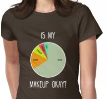 Is My Makeup Okay? (Dark) Womens Fitted T-Shirt