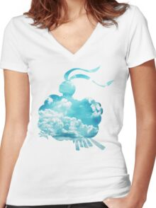 Altaria used Roost Women's Fitted V-Neck T-Shirt