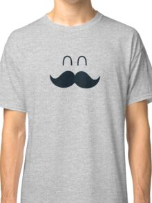 Funny Cute Mustache Face  Classic T-Shirt
