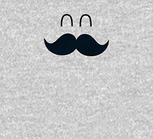 Funny Cute Mustache Face  Pullover