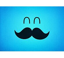 Funny Cute Mustache Face  Photographic Print