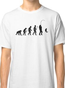 Evolution Of Man and Fishing Classic T-Shirt
