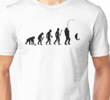 Evolution Of Man and Fishing Unisex T-Shirt