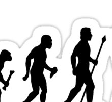 Evolution Of Man and Fishing Sticker