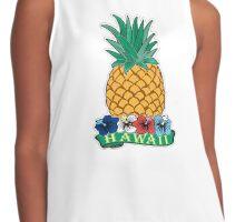 Hawaiian Pineapple wit Flowers Contrast Tank
