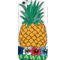 Hawaiian Pineapple wit Flowers iPhone Case/Skin