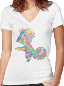 Kecleon used Synchronoise Women's Fitted V-Neck T-Shirt
