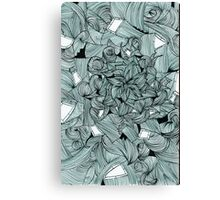 Floral Abstract Line Design Canvas Print