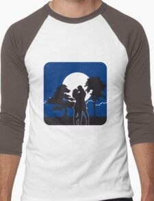 full moon liebespaar nature trees Men's Baseball ¾ T-Shirt