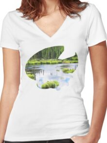Lotad used Absorb Women's Fitted V-Neck T-Shirt