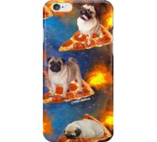 Pugs in Space Riding Pizza iPhone Case/Skin