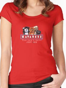 Havanese :: You Can't Have Just One {dark} Women's Fitted Scoop T-Shirt