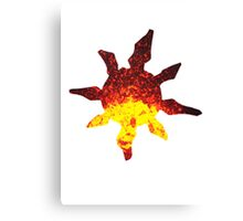 Solrock used Fire Spin Canvas Print