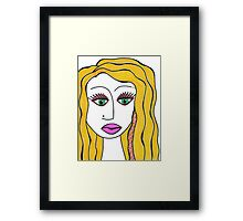 Blondie Pop Framed Print