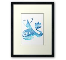 Milotic used Aqua Ring Framed Print