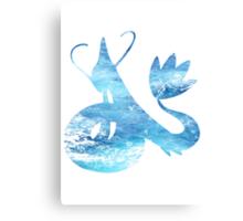 Milotic used Aqua Ring Canvas Print