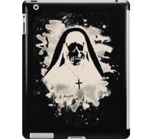 Scary Nun – creme white iPad Case/Skin