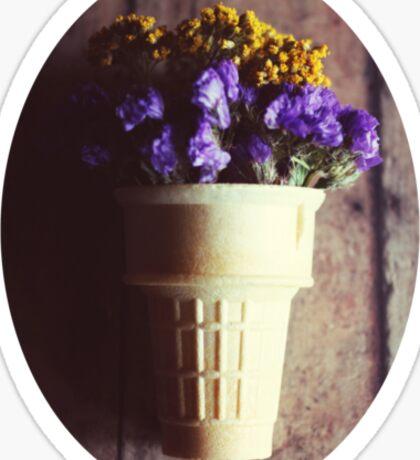 flower cone III Sticker