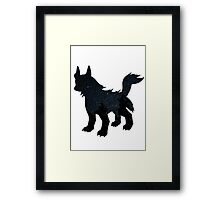 Mightyena used Dark Pulse Framed Print