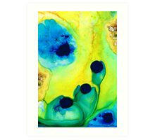 New Life - Green and Blue Art by Sharon Cummings Art Print