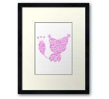 Skitty used Attract Framed Print