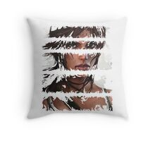 Lara Croft Torn Throw Pillow