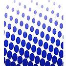 blue fade half tone by yvonne willemsen