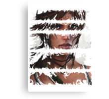 Lara Croft Torn Canvas Print