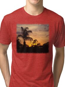 Fast Moving Clouds at Sunset Tri-blend T-Shirt